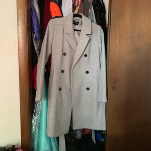 Grey Wool Coat - Express